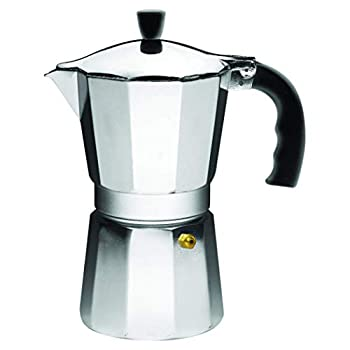Imusa USA Aluminum Stovetop 6-cup Espresso Maker  B120-43V