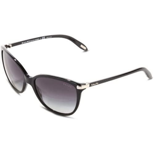 Ralph by Ralph Lauren Women's 0RA51601/11 Sunglasses, Black/Gray Gradient, 57
