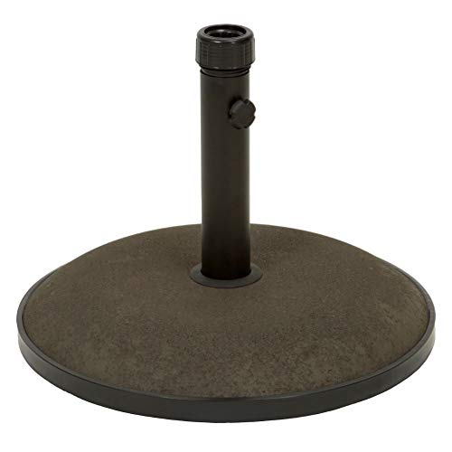 Christopher Knight Home 239323 Gretna Outdoor 55 lbs Circular Concrete Umbrella Base, Brown and Black