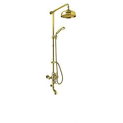 Best Bargain Rohl AC414X-IB Cisal Shower System with Exposed Thermostatic Valve, Shower Head, Inca B...
