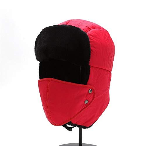 KCCCC Gorras de Esquí de Invierno Oreja de esquí de Invierno con el Sombrero de Invierno máscara a Prueba de Viento Solapa y esquí for el esquí en Clima frío Sombrero Cálido