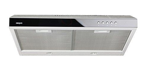 Dunstabzugshaube WK-7 K60 weiß /60cm/160 m³/h + Weißes Glas Zu Einbaugerät Flachhaube