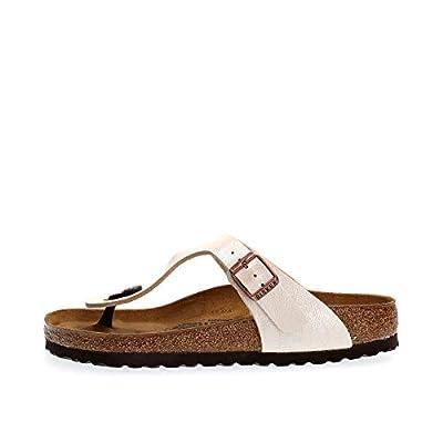 Birkenstock Womens Gizeh BS Graceful Pearl White Regular Fit Sandals Size 5