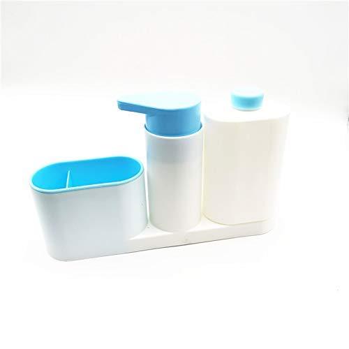 ZFFSC Jabonera Accesorios de Cocina Fregadero de jabón Dispensador Botella de baño y Cocina Líquido Líquido Botellas de plástico para organizar la Cocina Jabonera