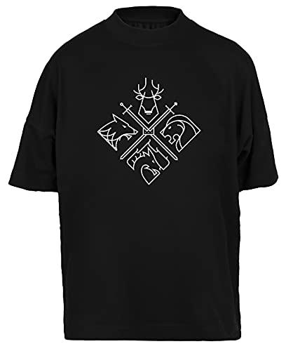 Liberate Animals Camiseta Holgada Hombres Mujeres Unisex Negra Algodon Organico tee Baggy T-Shirt Unisex Black L