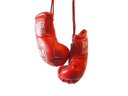 RingMasterUK – Mini guantes de boxeo para colgar en el retrovisor del coche o de la furgoneta, rojo
