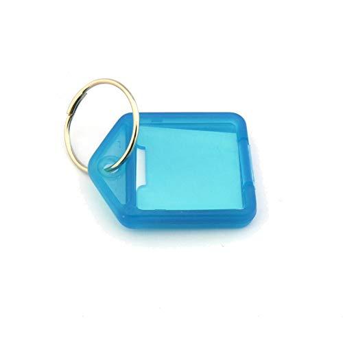 Schlüsselanhänger mit Schüsselring und Beschriftungsfeld - Aufklappbar - 38x27mm - DER KLEINE - mehrere Farben zur Auswahl - Türkis - 10er Pack