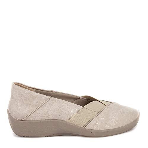 Zapato Salon Escote Pico para Plantillas arcopedico m-4845 Beige 37 EU