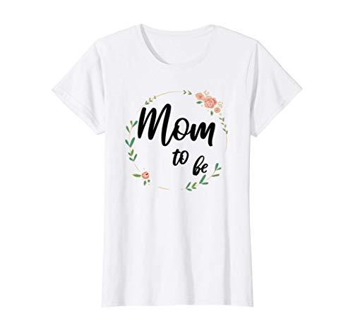 Damen Mom to be werdende Mama Schwangerschaft schwanger Baby T-Shirt