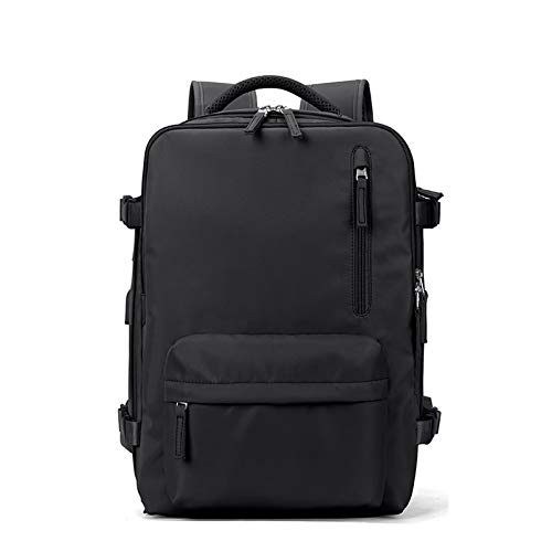Yagerod Multifunctional Women Travel Backpack Large Capacity Laptop Travel Backpack Rucksack With USB Charging Port BLACK