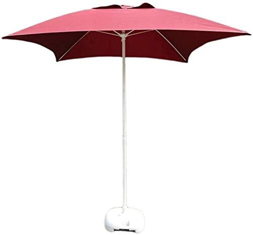 Amarillas Sun Parasol Umbrella Garden Parasoles 2m / 6.6 'Patio al aire libre Patio Square Mesa de jardín Umbrella, para patio al aire libre, Mercado de eventos comerciales de playa, lado de la piscin