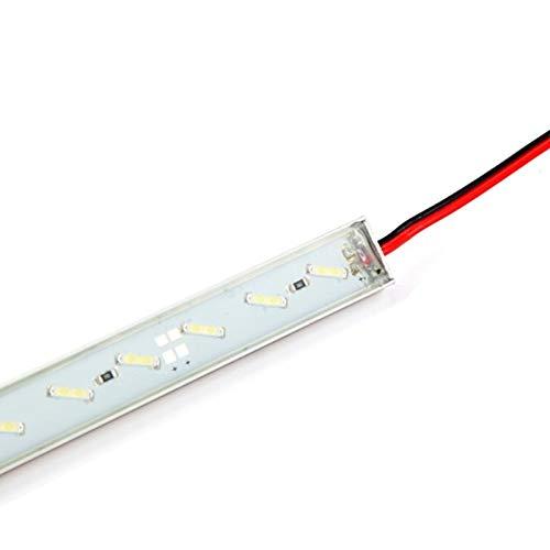 SUNXK 50cm 36LEDs LED Harter Lichtstrahl 9W SMD 7020 wasserdichter LED Stab-Licht 12V 1440Lm LED Harter Harter Heller Gurt verwendbar for Swimmingpool