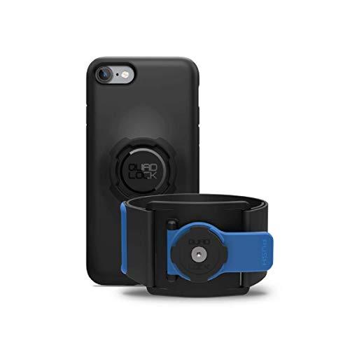 Quad Lock Brassard de sport avec boitier pour iPhone 6/6S Noir/Bleu