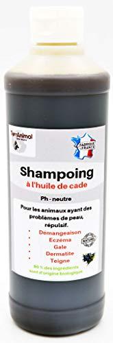 TERRANIMAL Shampoing à l'huile de Cade problème de Peau 500 ML (Anti-démangeaison, eczéma, Gale etc.)