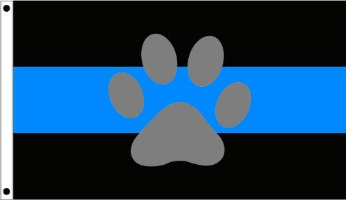 K-9 Thin Blue Line Flag (3 x 5)