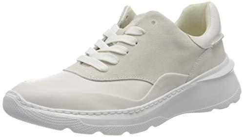 Clarks Sprintlitelace, Zapatillas Mujer, Blanco, 40 EU