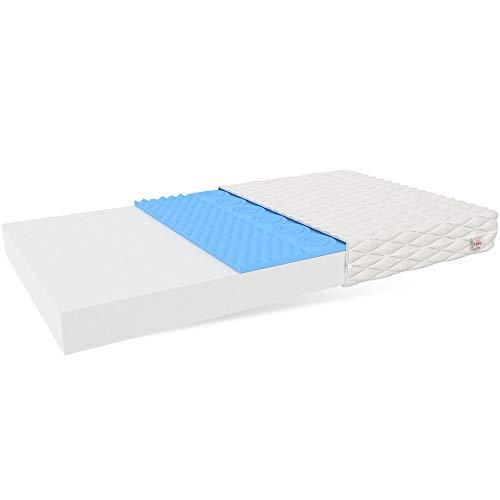 FDM Matratze LEON Schaumstoffmatratze Kindermatratze Härtegrade H3 Höhe 10 cm weiß...