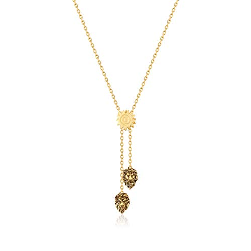 Disney Couture Kingdom Lion King Gold-Plated Simba vs Scar Lariat Necklace