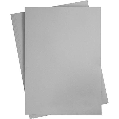 Cartulina de colores, A2, 420 x 600 mm, 180 g, color gris acero, 10 hojas