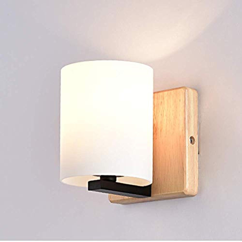 Block Holz Lampe Kreatives Schlafzimmerwand Lampe Moderne Minimalistische Gang Wand Lampe Nachtlampe