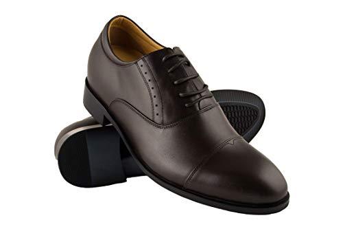 ZERIMAR Zapatos con Alzas Interiores para Caballeros Aumento 7 cm | Zapatos...