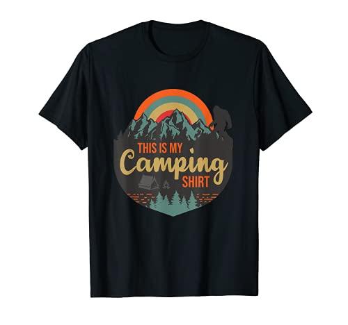 This is my Camping Shirt Divertido Traje De Campista Camiseta