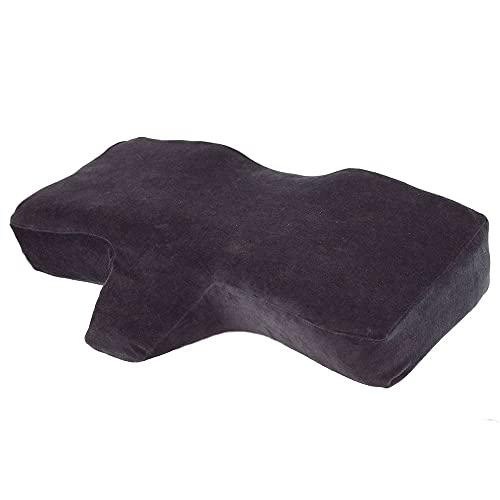 Eyelash Extension Application Pillow - Ergonomic Memory Foam   Medical Pillow   25' x 15.75' x 4.33'  Velvet   Contour Pillow with Neck Support Black