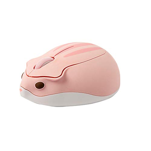 マウス ワイヤレスマウス 2.4GHz 人間工学 高精度 USB式 小型 持ち運び便利 無線マウス ポータブル ハムスターの形 Mac/Surface/Windowsに対応 (ピンク)