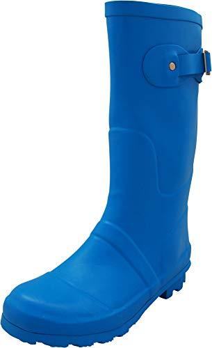 NORTY - Womens Hurricane Wellie Solid Matte Mid-Calf Rain Boot, Cobalt 40705-11B(M) US
