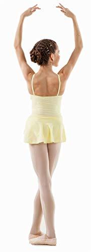 Sansha - E508M - Aida - Leotardo de Danza para niña, Color Amarillo, tamaño 120 cm
