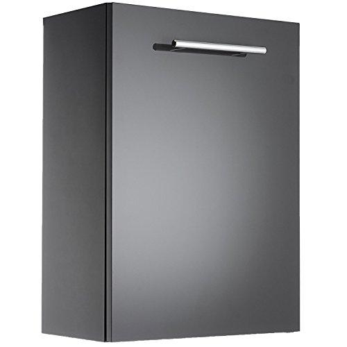 Cygnus Mini Bath - Mobiletto bagno sospeso, 1 porta con chiusura progressiva, colore: grigio chiaro