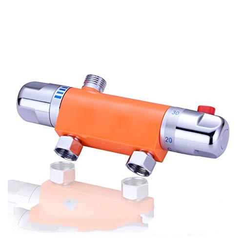LXH-SH Das elektromagnetische Ventil Bad Dusche Wand montiert Messing Thermostat Wasserhahn Thermostatmischventil Badezimmer Automatische Wassertemperatur Steuerung Wasserhahn Industriebedarf