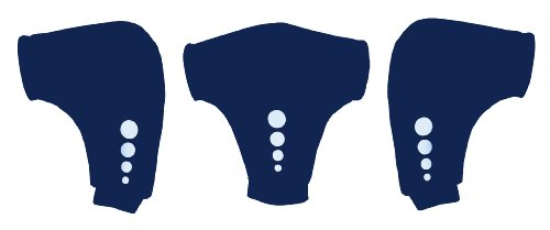 Crewroom - Guantes tipo pogies para remar con remos y espadillas - color azul marino, talla única