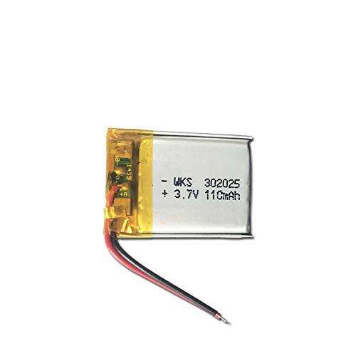 ahjs457 3.7V Lipo Cells 302025 110mah Batería Recargable de polímero de Litio para Pluma de Lectura Pulsera Inteligente Auriculares Bluetooth MP3 MP4 MP5