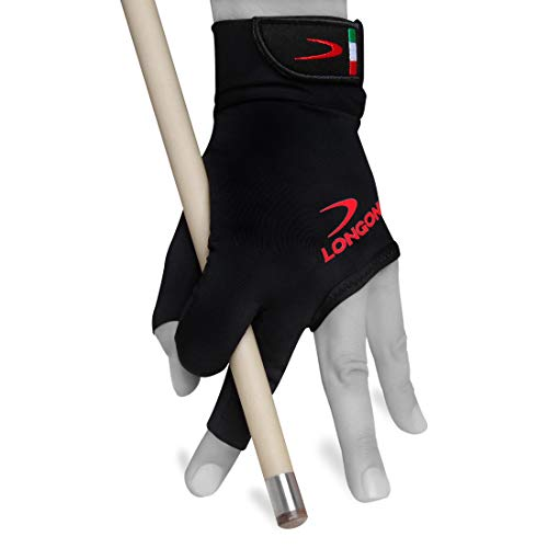 Longoni Black Fire 2.0 Billiard Pool CUE Glove - for Left or...