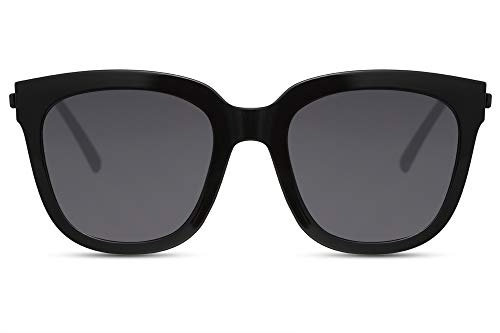 Cheapass Damen-Sonnenbrille Schwarz Cat-Eye Groß X-XL UV-400 Plastik Damen Frauen