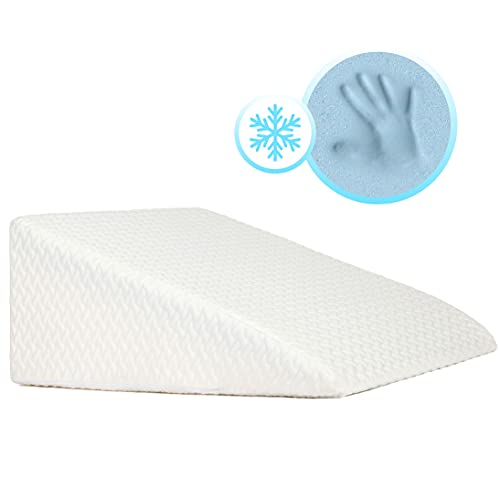 Milliard 12 Inch Bed Wedge Pillow with Memory Foam Top -Helps with Acid Reflux and Gerds, Reduce Neck and Back Pain, Snoring, and Respiratory Problems- Washable Cover
