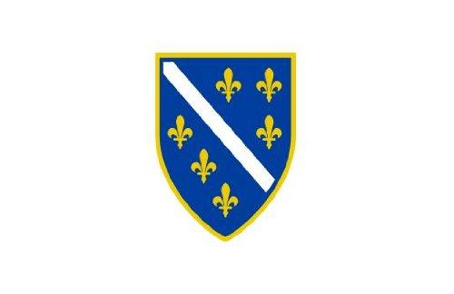 Michael & Rene Pflüger Barmstedt 8,4 x 5,4 cm Autoaufkleber Fahne von Alt Bosnien Bosnia Sticker Aufkleber fürs Auto Motorrad Handy Laptop Outdoor/Indoor