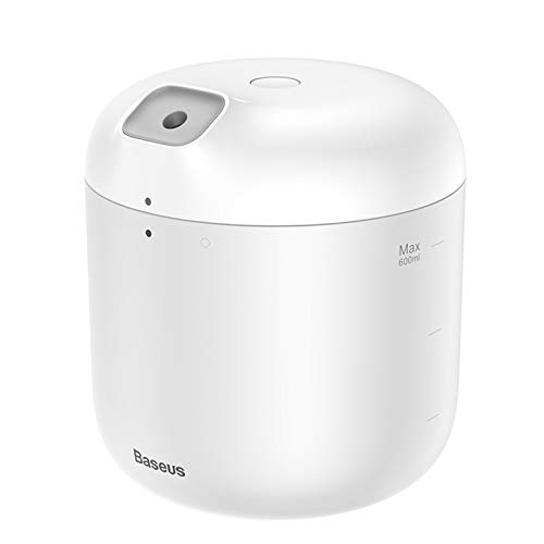 Nobenx Humidificador Humidificador de humidificador de Aire Purificación for la Oficina en casa 600 ml Humidificador de Aire de Gran Capacidad de 600 ml humidificador con lámpara LED (Color : White)