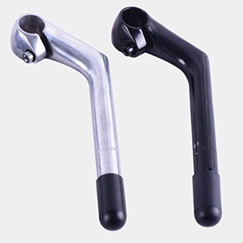 Naturra Bicycle Gooseneck Handlebar Bar Stem Aluminum Alloy Riser 25.4X 180mm for Handlebar Stem Parts,Silver