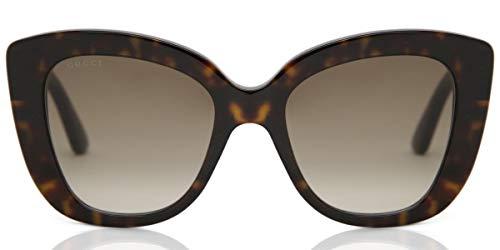 Gucci Unisex – Erwachsene GG0327S-002-52 Sonnenbrille, Dunkel Havana, 52