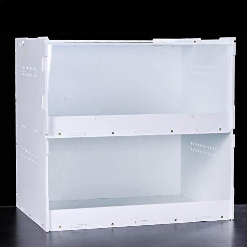 decaden Terrarien Für Reptilien Amphibien Terrarium Zweischichtige Fütterungsbox Für Spinnenechsenfrosch Cricket Turtle Kunststoffterrarium Zuchtbox