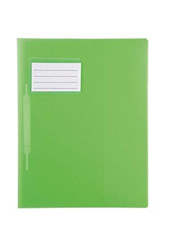 Idena 307853 - Schnellhefter für DIN A4, mit Überbreite, aus Polypropylen, transluzent grün, 1 Stück