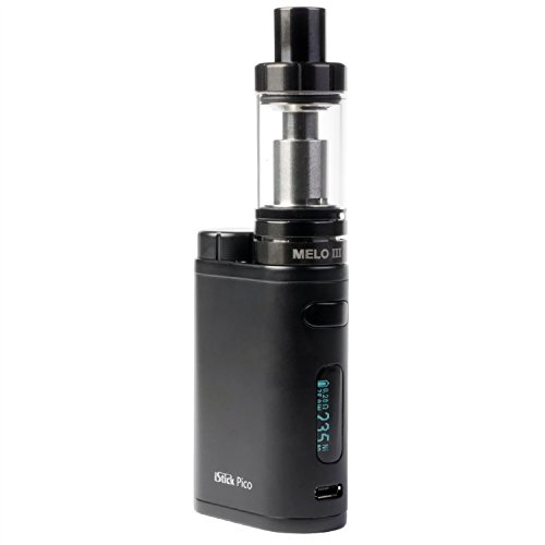Eleaf iStick Pico 75 Watt Kit mit Melo 3 Clearomizer 4 ml, Riccardo e-Zigarette, komplett schwarz