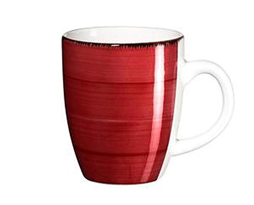 Domestic Kaffeebecher Bel Tempo 390ml rot 6er Set