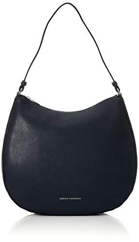 ARMANI EXCHANGE Hobo Bag - Borse a spalla Donna, Blu (Navy), 10x10x10 cm (W x H L)