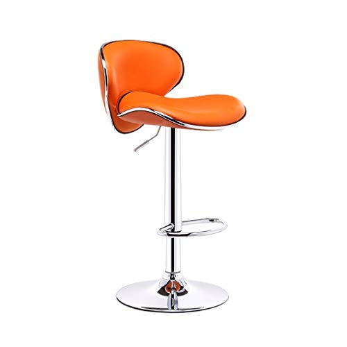 CHY Counter Height Bar Stools Set Of 4, Adjustable Bar Stools With Backs, For Kitchen Computer Office Chair (Color : Orange, Size : Bar stools set of 2)