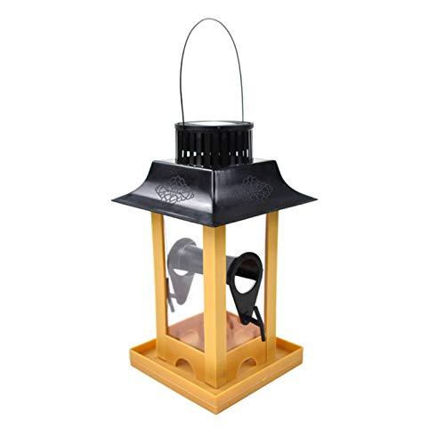 XYXZ Bird Seed Feeder Tray Hängende Art Kunststoff Kunststoff Haustier Solar Light Bird Feeding Station Große Kapazität Vogelfutterbehälter