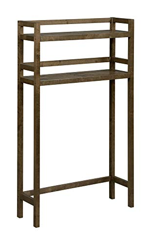 Lowest Price! Contemporary Home Living 48 Antique Chestnut Brown 2-Tier Bathroom Space Saver Shelf