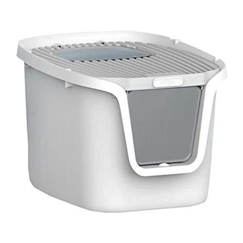 SYLTL Caja De Aseo para Mascotas, Cat Litter Box, Inodoro para Gatos Cerrado con Apertura Superior Y Pala Y Rejilla Desodorante, a Prueba De Salpicaduras,55.5 * 44.5 * 36.3cm,XL